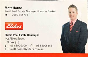 Matthew Horne Business Card