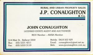 John Conaughton Business Card