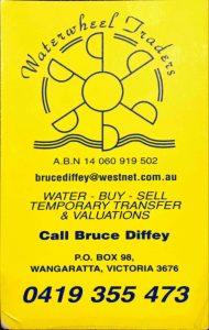 Bruce Diffey business Card