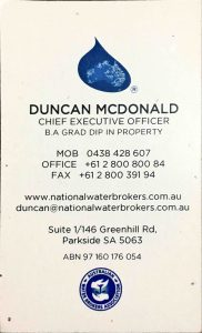 Duncan McDonald Business Card